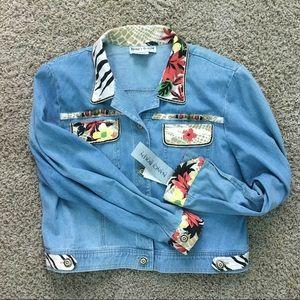 Jackets & Blazers - Nancy Bolen Denim Classic Jean Jacket Size 12